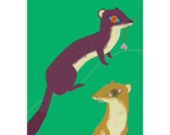 Giclée Print - Weasels