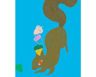 Giclée Print - Squirrel