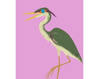 Giclée Print - Heron