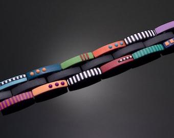 "Polymer Clay PDF Tutorial ""Hinged Links Bracelet"""