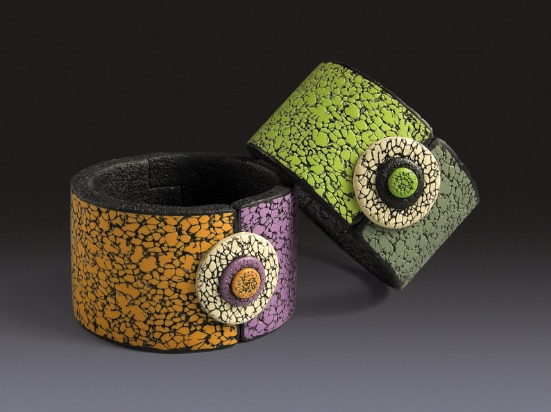 Polymer Clay PDF Tutorial Hinged Bracelet image 0