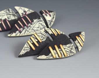 "Polymer Clay PDF Tutorial ""Shield Earrings"""