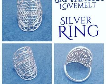 Silver Sri Yantra Ring • Sri Yantra Lovemelt Ring