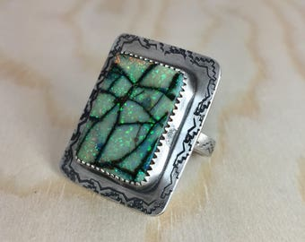 Cultured Opal ring size 6 1/2