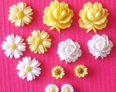 Vintage Flower Cabs - Yellow and White