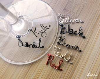Wine Charms, Custom Wine Markers, Set of 3