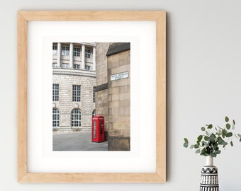 Manchester Central Library St Peter's Square 1930s architecture red phone box UK fine art travel photography print home decor wall art