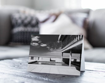 Architecture photography black and white Le Corbusier Marseilles mid-century modern France French stationery note card blank inside card