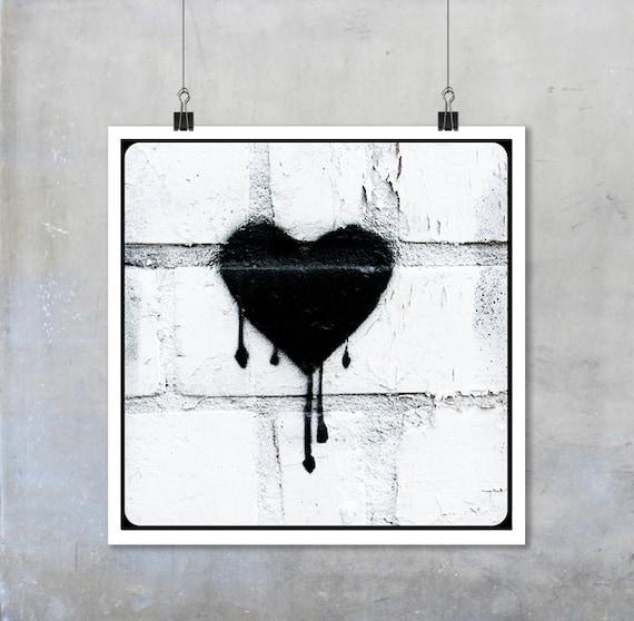 Tränendes Herz Schablone Graffiti schwarz: Alternative | Etsy