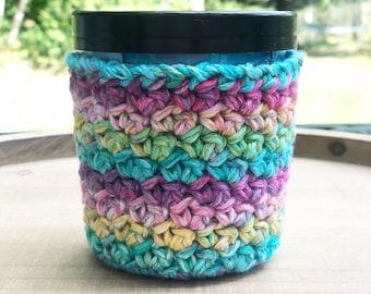 Ice Cream Cozie - Crocheted Pixie Rainbow