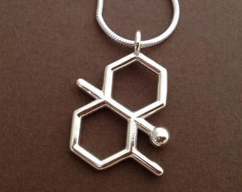 geosmin necklace - petrichor - scent of rain - in solid sterling silver