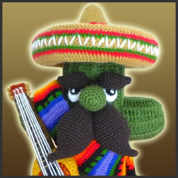 Amigurumi Patron Crochet PDF EL Cactus Mariachi | Etsy