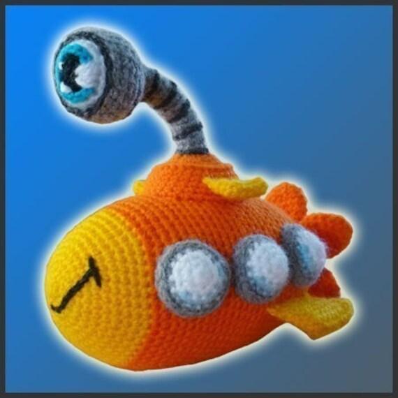PDF Amigurumi Crochet Patron Nautilus El Submarino | Etsy