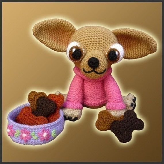 Amigurumi Pattern Crochet Lupita Chihuahua Dog Diy Digital Etsy