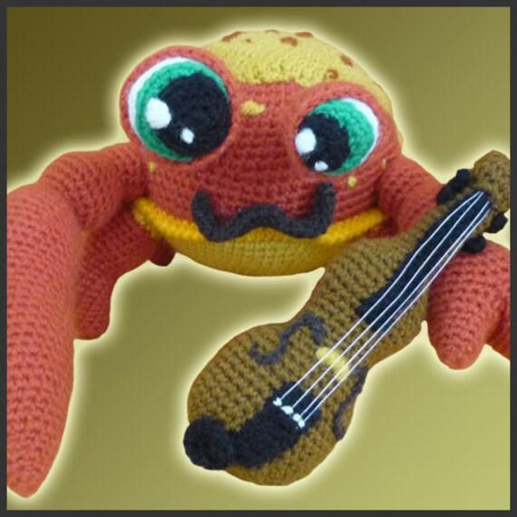 Amigurumi Patron Crochet Niccoló El Cangrejo Violinista | Etsy