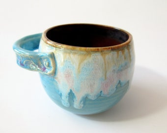 Small bowl or crock,  Colorful glazes, holds 10 oz, ready to ship