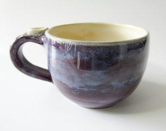 Cappuccino, Latte Coffee Cup, Purple Mug, Ready to Ship, Handmade
