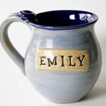 Personalized Name Mug, Custom Color, Custom Name Coffee Cup