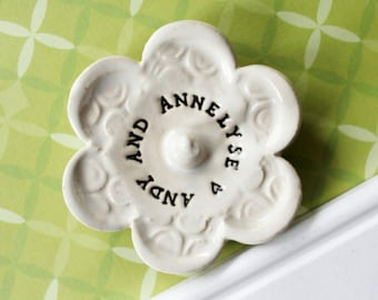 Engagement Ring Holder, Engagement Gift Ring Dish, Personalized and Customizable, Takes 1-2 weeks to Produce