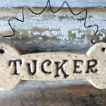 Dog Bone Ornament, personalized dog bone, made to order, bespoke bauble