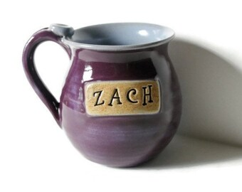 For Julie, 2 Personalized Mugs  Made to Order, Stamped with a name of your choice, 4 week wait