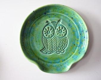 Large Spoon Rest, ladle rest, spatula rest, sponge holder near sink, wheel thrown Pottery