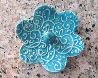 Ring Holder, Ring Dish, Ring Bowl, Glazed in Sea Isle Blue Turquoise