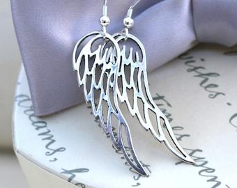 Sterling Angel Wings with Sterling earwires