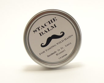 Mustache Stache Balm For Men Stache and Beard Conditioner  After Shave Skin Care, Mustache Cream, Deep Moisturizer For Face and Body