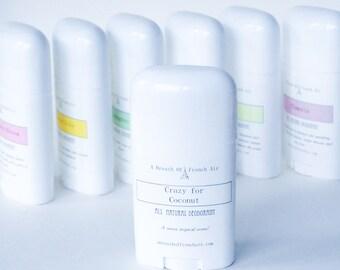 Coconut Natural Deodorant,  No Aluminum, Baking Soda Free, Vegetable Deodorant, Deodorant Cream, Paraben Free, pH Balanced Deodorant