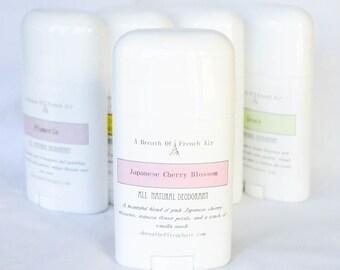 Japanese Cherry Blossom Natural Deodorant,  No Aluminum, Baking Soda Free, Vegetable Deodorant, Deodorant Cream, Paraben Free, PH Balanced