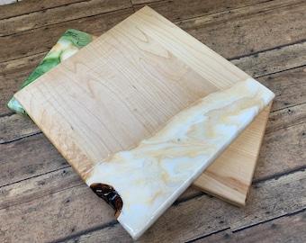 Fluid Art Charcuterie Cheese Board 9x9