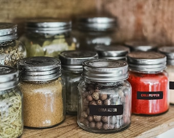Spice Jar Labels SVG Files. 34 Kitchen Spice Labels.