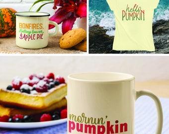 Hello Pumpkin, Pumpkin Spice & Everything Nice, Mornin' pumpkin SVG Files. Fall, Autumn, Pumpkin