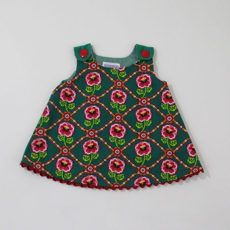 62c2ca43d3 3-6 Months Russian Rose Baby Girls Dress Boho Baby Dress   Etsy