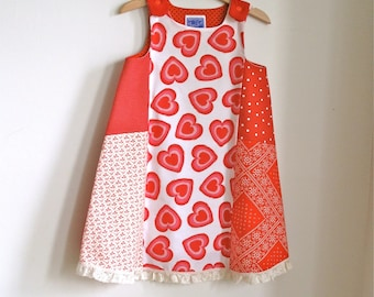 Toddler Girls Dress - Queen of Hearts Patchwork Dress for Toddler Girls -  Size 4T - Children's Clothing