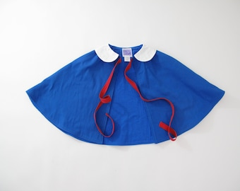 Madeline Halloween Costume, Madeline Cape, Twill Girls Cape with Peter Pan Collar, Cape Coat, Baby Poncho, Girls Cloak, Newborn, 3-6 Months