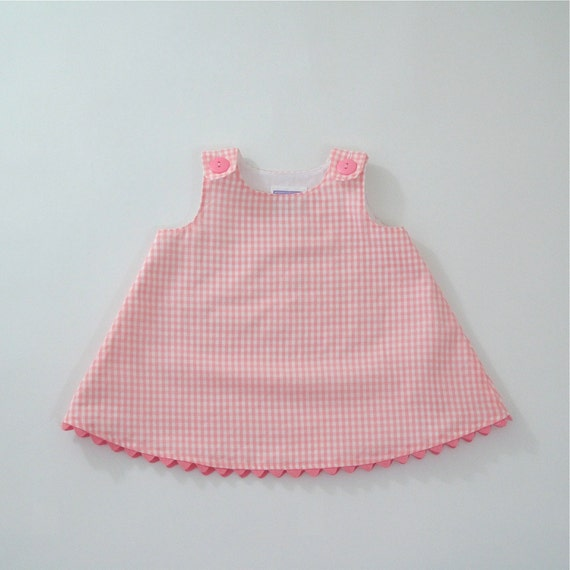 1b411f30370 Pink Gingham Girls Dress Toddler Dress Baby Dress Checked