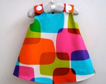 Reserved for Snoordaa Rainbow Windowpanes Dress Size 3T
