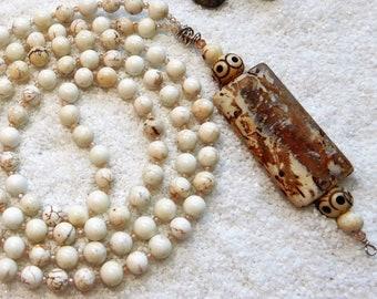 Sale/Stillness Within Mala/108 Bead AAA Gemstone Mala/Wrap Bracelet/Necklace/Visualization/Peace/Calm/Cubic Ziconia/Meditation/Yoga