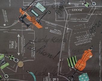 Suzuko Koseki, Sewing, Dark Gray Japanese Fabric  - Half Yard