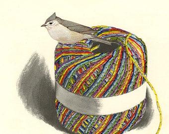 Nesting instinct.  Limited edition collage print by Vivienne Strauss.