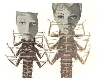 Metamorphosis.   Original collage by Vivienne Strauss.