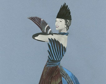 All my blackbirds are bluebirds now. Limited edition print by Vivienne Strauss.
