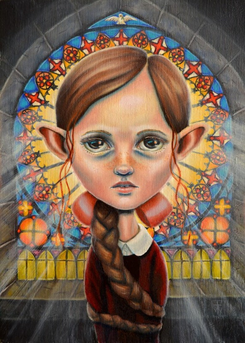Mary Margaret the Pious  Original painting by Terri Woodward image 0