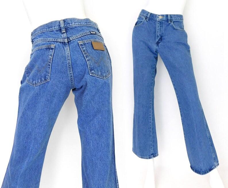 ff5f7858ba Sz 6 8 90s Boot Cut Wrangler Women s Jeans Midrise Blue