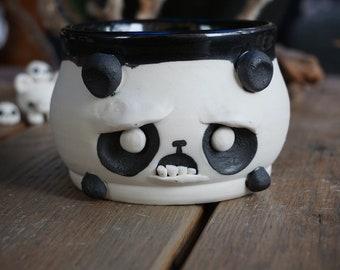 Confused and sad Panda Tea Bowl