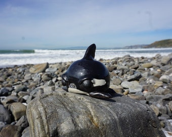 hand thrown, ceramic Seriously angry Orca