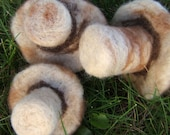 Trio of Mushrooms (Needle Felted Set)