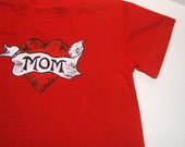 RESERVED My Mom Rocks Tattoo Tshirt (3x \/ 4t) and 12M Tshirt